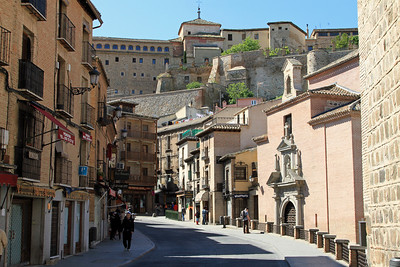 Toledo - Main street up the hill to the old town.