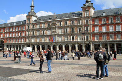 Madrid - Plaza Mayor. Old Madrid's 17th century square has been a focal point of the city since the days when it was used as a public arena for bullfights, trials by the Inquisition and executions.  Unfortunately none of this was happening the day I visited.