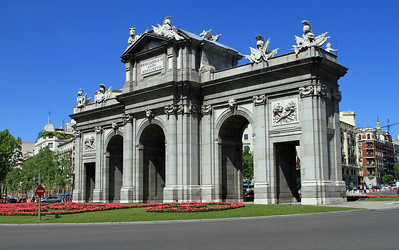 Madrid - Puerta de Alcala, built 1769-1778 was the eastern gateway to the city of Madrid.