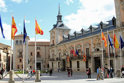 Madrid - Plaza de la Villa, dates from the 15th century.