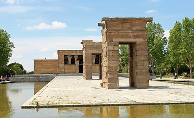 Madrid - Templo de Debod - Egyptian temple of Debod, built in the 2nd century BC, was rescued from the area flooded behind the Aswan Dam and given to the Spanish as a tribute to the Spanish engineers involved in the project.