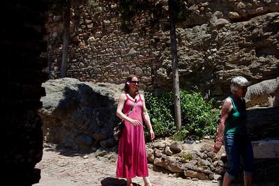 Inside Alcazaba. Roman fortress in Malaga.