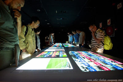 demonstrating the history of FC Barcelona