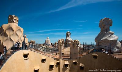 palau something chimneys by Gaudi, someone said tt they look phallic shaped and i agree, totally