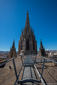 barcelona cathedral from the roof