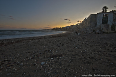 the seaside town in the sunset (taken amidst howling winds i mz add)