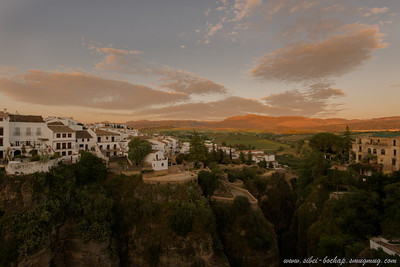 andalusian countryside in the evening