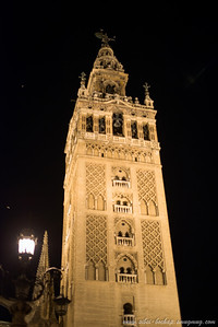 seville cathedral at night