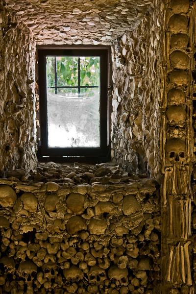 Capela dos Ossos (Chapel of Bones) in the Church of Sao Francisco