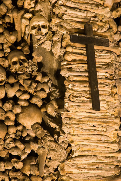 Capela dos Ossos (Chapel of Bones) in the Church of Sao Francisco