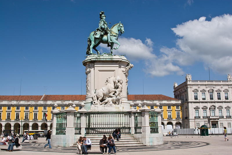 Statue of Dom Pedro IV in the Praça do Comércio