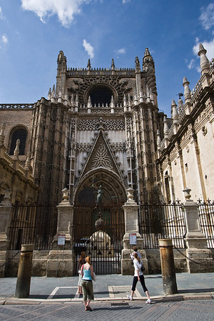 Entrance to The Cathedral of Seville