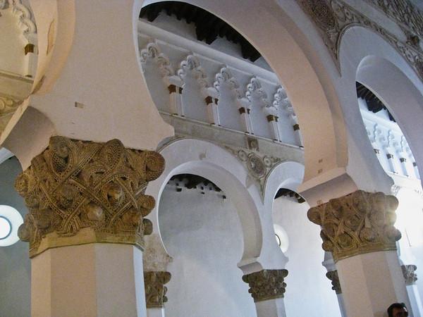 Synagogue of Santa Maria La Blanca with Moorish architectural detail