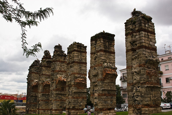 Merida; remains of Roman aqueducts