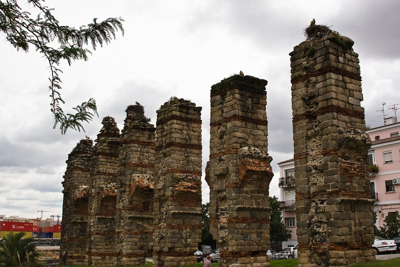 Merida; remains of Roman aqueducts