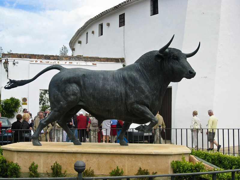 Entrance to the bullfight ring in Ronda