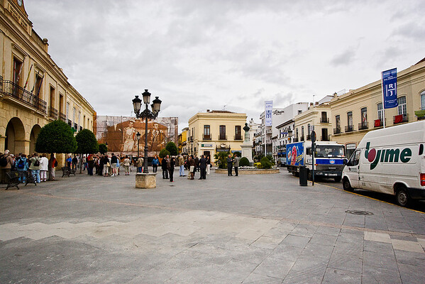 Ronda - Plaza de Espana.  The town of Ronda is known as the birthplace of modern bullfighting.