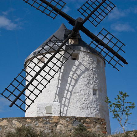 Don Quixote's windmills near the town of Consuegra