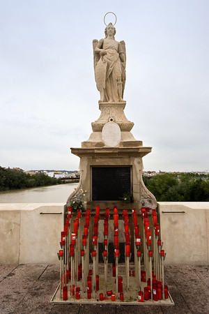 Statue of Saint Raphael on the Puente Romano