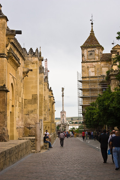 Cordoba.  The Mezquita (the Cathedral of Cordoba) is on the left