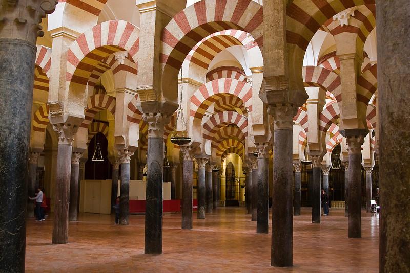 The Mezquita; interior detail