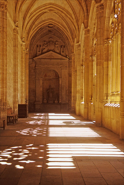 Cloister shadows, Spain