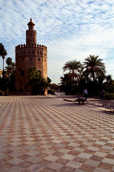 Torre del Oro along the Guadalquivir river, Sevilla