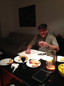Dinner in our apartment