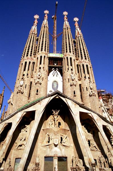 Passion façade of La Sagrada Família, Barcelona