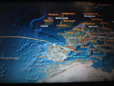 Our plane GPS showed our progress...I wish our GPS worked as well in the RV later