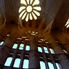 Window inside La Sagrada Família, Barcelona