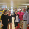 Shopping for the stay. Luci, Mary, Sharon, Doug, Greg.