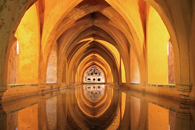Alcazar - The Banos de Dona Maria de Padilla (Baths of Lady María de Padilla) are rainwater tanks beneath the Patio del Crucero.