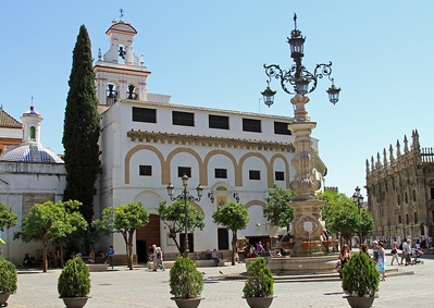 Convento de la Encarnacion, opposite the cathedral, on the Plaza Virgen de los Reyes.