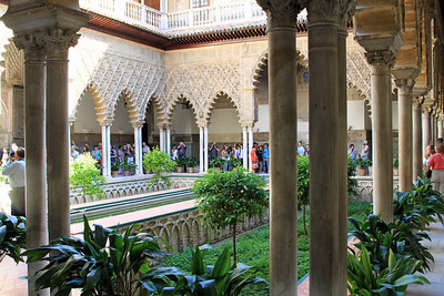 Alcazar - Patio de las Doncellas, the Patio of the Maidens boasts plasterwork by the top craftsman of Granada.