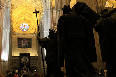 Cathedral - The tomb of Christopher Columbus inside the cathedral dating from 1902.