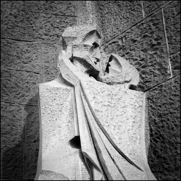 Sculpture on the Passion Facade of Gaudí's Sagrada Familia church