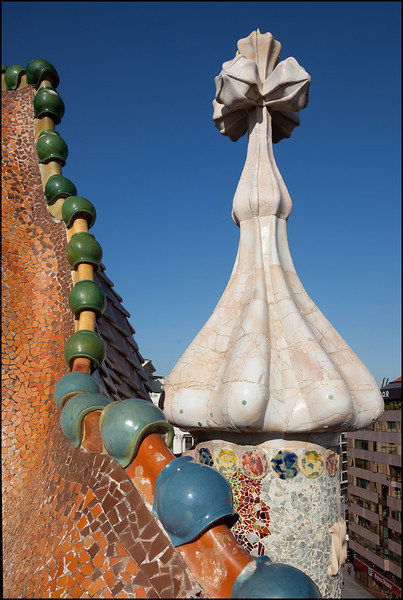 On the roof of the Casa Batlló