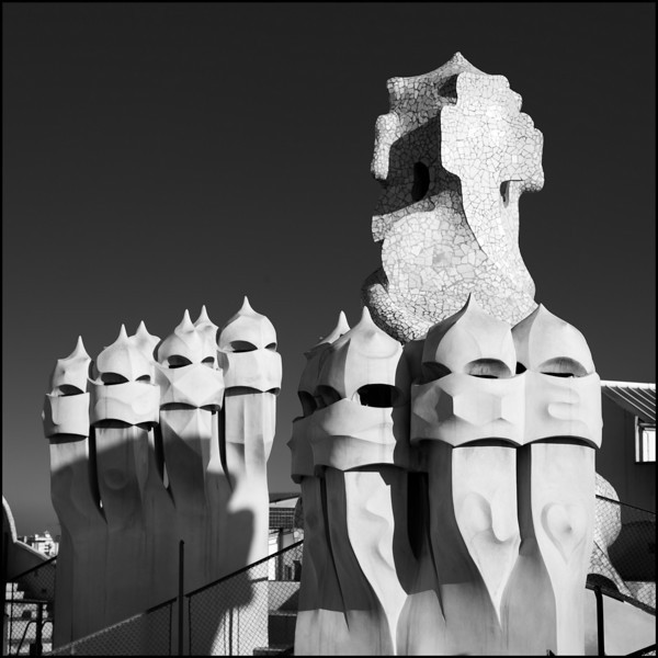 On the amazing roof of Casa Milá