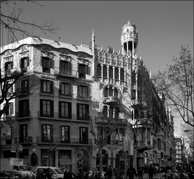 A Modernista (the movement Gaudí was part of) building on Charles' List