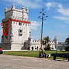 15th century Belem Tower (monument to the great Portugese Mariners).<br /> Lisbon, Portugal<br /> Monday May 26, 2008
