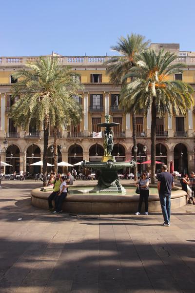 Placa Reial Barcelona Spain Autumn 2017
