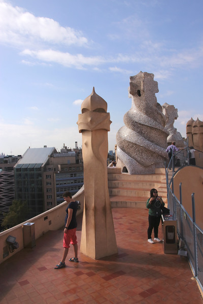 Rooftop of La Pedrera Barcelona Spain