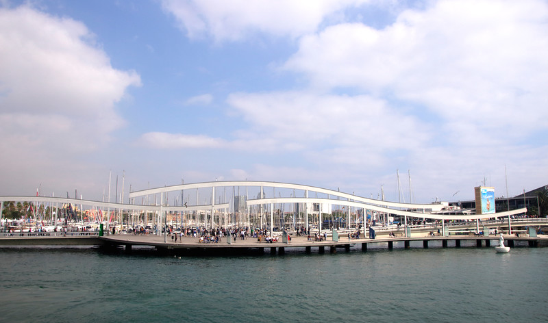 Rambla de Mar footbridge Barcelona Spain