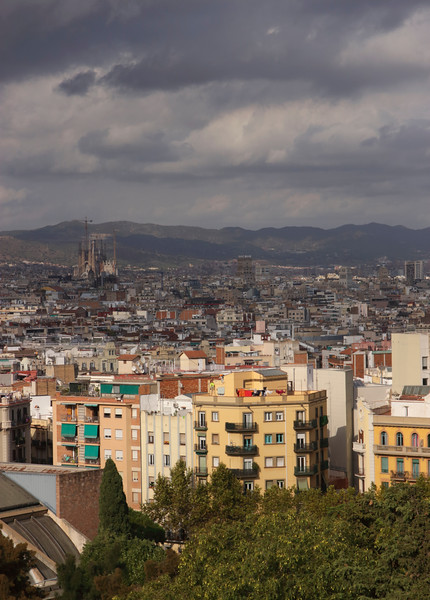 Barcelona cityscape view from Montjuic