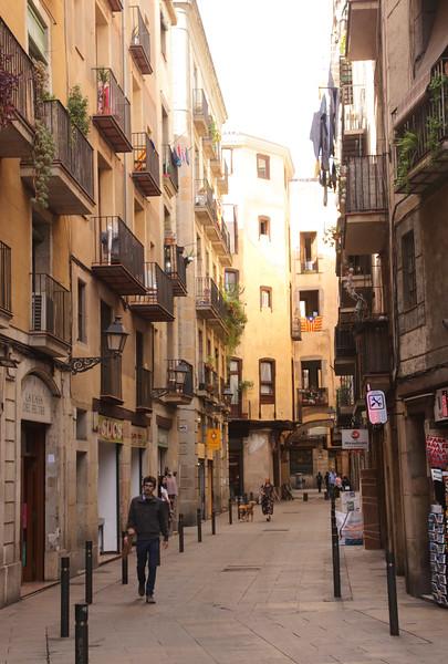 Alley in La Ribera Barcelona Spain