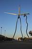 Sculpture by David I Goliat Parc de les Cascades Vila Olimpica Barcelona