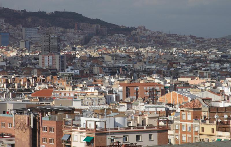 Barcelona suburbs skyline Spain