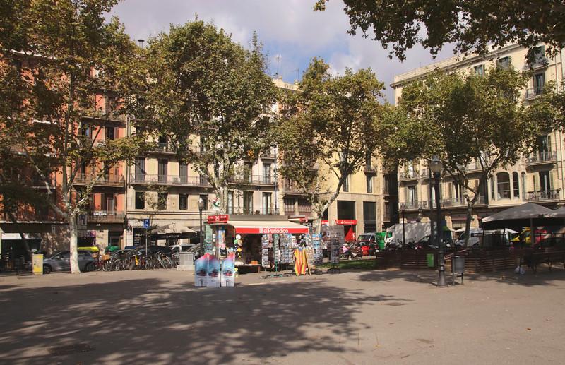 Pla de Palau square in La Ribera Barcelona Spain