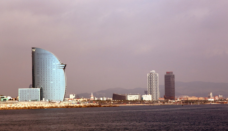 Barcelona Waterfront skyline